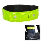 Salzmann High Visibility Biking 4-LED Reflective Safety Hiking Jogging Arm Bands - Fluorescent Green