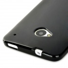 Protective TPU Back Case for HTC One M7 - Black