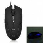 E-3LUE EMS151 Cool Wired Optical Mouse w/ Blue Light - Black