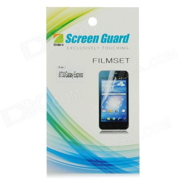 Protective Clear Screen Protector Film Guard for Samsung Galaxy Express i8730 - Transparent protective frosted abs back case for samsung galaxy express i8730 white