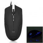 E-3LUE EMS109 Cool 2.4GHz Wired Optical Mouse w/ Blue Light - Black (170cm-Cable)