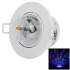 Voice-control 3W 3 Emitters RGB Colorful Spinning LED Ceiling Lamp - White + Black + Transparent