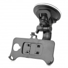Car Suction Cup Mount Holder + 360' Rotation Bracket for Samsung S4 - Black