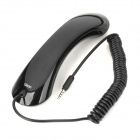 Qisan P100 Retro Style Universal Telephone Receiver Headset for Samsung + Iphone - Black