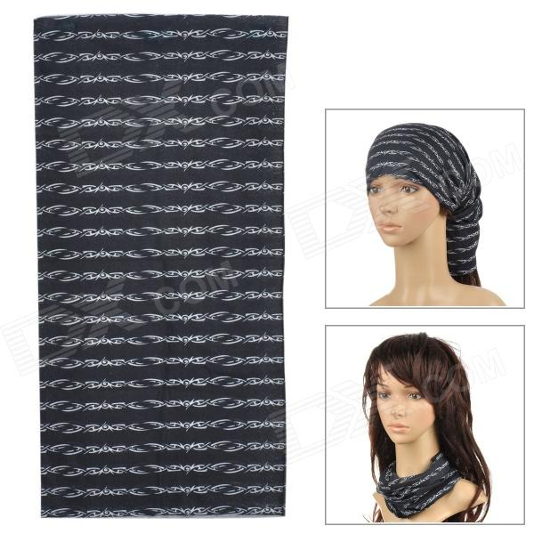 Multifunctional Seamless  Polyester Magci Turban Scarf - Black