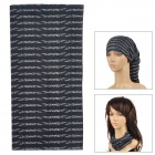 Multifunctional Seamless  Polyester Magical Turban Scarf - Black