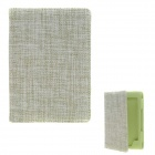 Plain Protective Canvas Case for Amazon Kindle 4 / 5 - Green + Cream