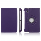 ENKAY ENK-7010 Jean Style PU Leather Case w/ Holder for Samsung Galaxy Tab P3100 / P3110 - Purple