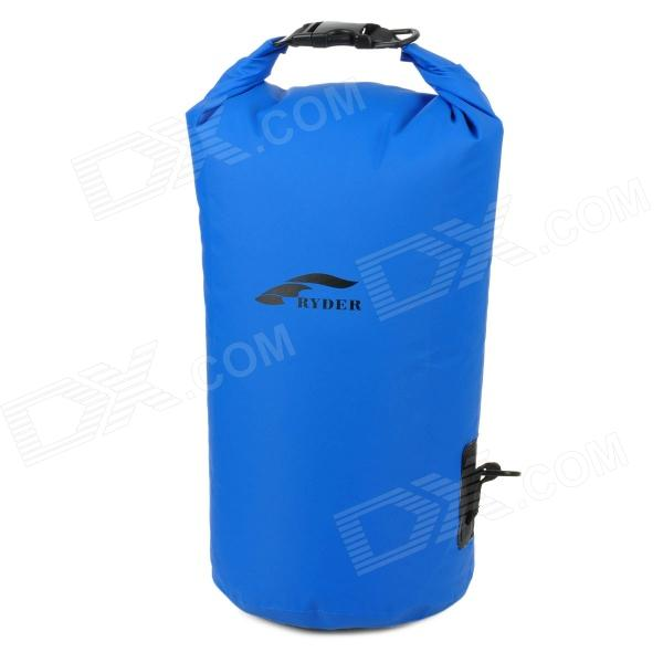 RYDER Outdoor Drifting Waterproof Shoulder Bag - Blue (Size L) outdoor swimming beach drifting waterproof bag blue 1 5l