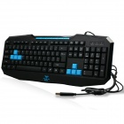AULA KB832 Professional USB Wired 110-Key Gaming keyboard For PC / Laptop - Black + Blue
