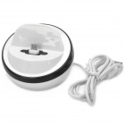 Stylish Charging Docking Station w/ USB Cable for Samsung Galaxy S4 i9500 - White + Black