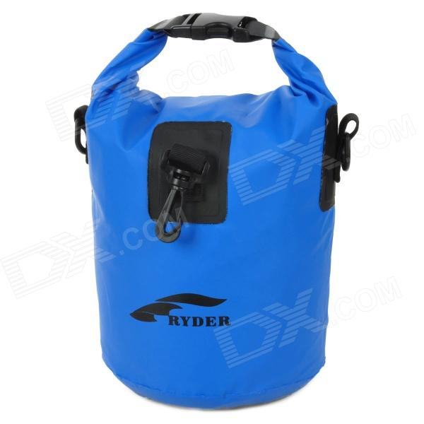 RYDER Drifting Waterproof Shoulder Bag - Blue (Size S) double shoulder waterproof bag small submersible for beach bag drifting bucket bag