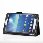 Protective PU Leather Case for Samsung Galaxy Tab 3 8.0 - Black