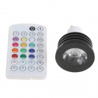 iSUNROAD GU10 4W 200lm LED Music Control Color Changing Light w/ Remote - Black + White (110~240V)