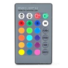 iSUNROAD B22 4W 200lm LED Music Control Color Changing Light w/ Remote - Black + White (110~240V)