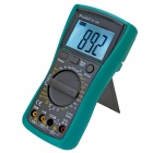 Pro'skit MT-1280 3 1/2 Digital Multimeter w/ Transistor Test Socket / Thermocouple - Green + Black