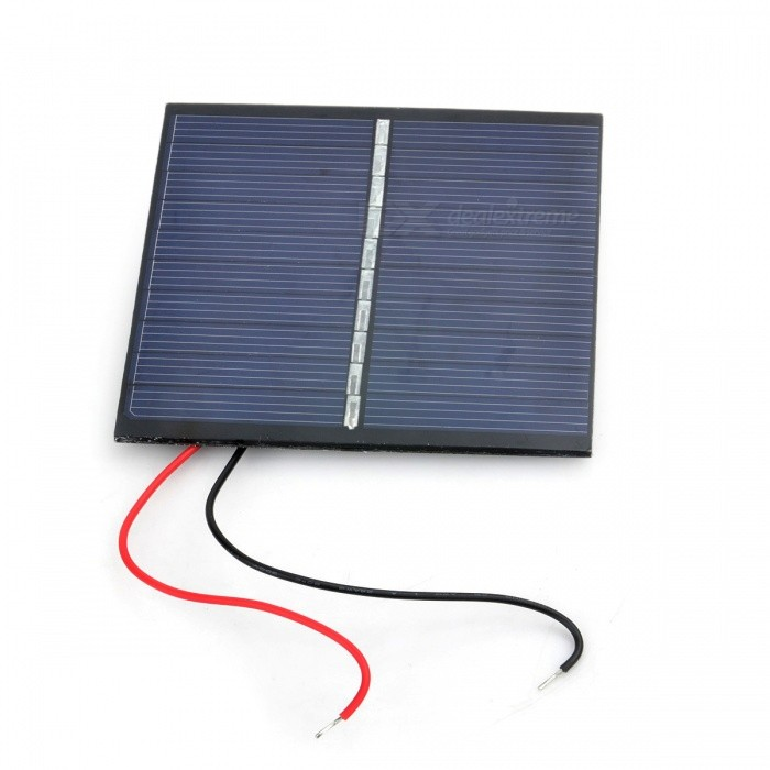 Miniisw SW-008 0.8W Solar Powered Battery Panel Board - Black