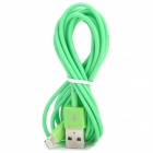 USB Male to Lightning Data Sync & Charging Cable for iPhone 5 + More - Green (2m)
