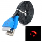 USB 30-Pin-Daten / Charging Flachbandkabel w / Smiley Indicator Light für iPhone 3GS / 4 / 4S - Blau