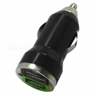 1A / 2.1A Dual USB Car Cigarette Lighter Charger – Black (12V)
