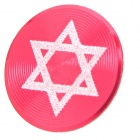 Hexagram Pattern Aluminum Alloy Home Button Protector for Iphone / Ipad / Ipod - Red + White