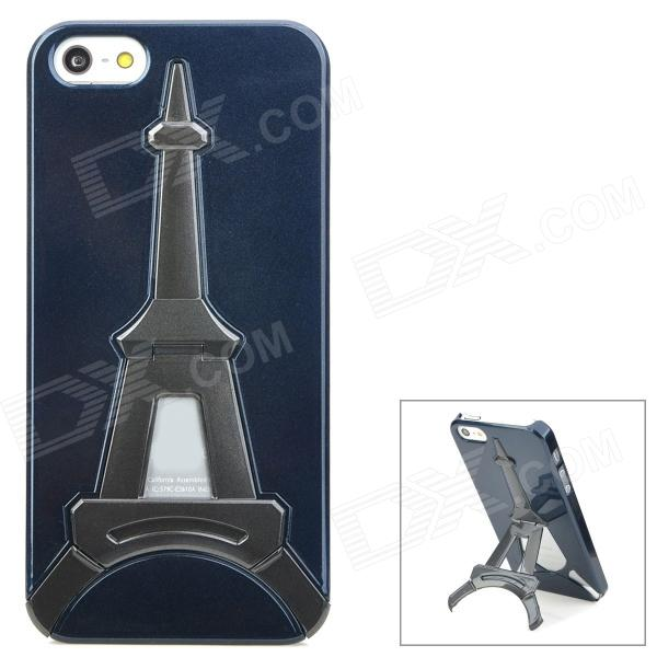 Creative Eiffel Tower Style Holder Stand Protective Plastic Back Case for Iphone 5 - Dark Blue king s dark tower dark tower