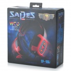 SADES SA-906 USB Wired Gaming 7.1-Channel Vibration Headphones - Black + Red (290cm-Cable)