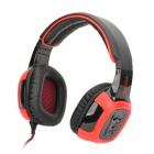 SADES SA-906I USB Wired Gaming 7.1-Channel Vibration Headphones - Black + Red (290cm-Cable)
