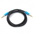 3.5mm Jack Male to Male Audio Cable - Black + Blue (100cm)