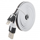 USB 2.0 to 8-Pin Lightning Data / Charging Flat Cable for iPhone 5 / iPad 4 / Mini - Black