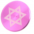 Hexagram Pattern Aluminum Alloy Home Button Protector for Iphone / Ipad / Ipod - Rosy + White