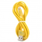 USB Male to Lightning Data Sync & Charging Cable for iPhone 5 + More - Yellow (2m)
