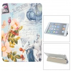 Stylish Patterned Folding PU Leather Smart Cover for iPad Mini - Multicolored