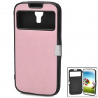 Protective PVC Flip Open Case for Samsung Galaxy S4 / i9500 - Pink + Black
