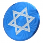 Hexagram Pattern Aluminum Alloy Home Button Protector for Iphone / Ipad / Ipod - Blue + White