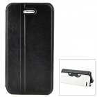 K.WIN IP-4 Stylish PU Leather + PC Protective Case w/ Cute Mustache Holder for Iphone 4S / 4 - Black