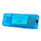 M2703 Portable USB Rechargeable TF Slot MP3 Player w/ USB Flash Drive - Translucent Blue