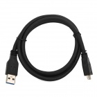 High Speed USB 3.0 Type-A Male to Micro-B Data Cable for Mobile HDD - Black (1m)