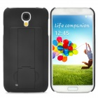 Protective PC Back Case w/ Flip Stand for Samsung Galaxy S4 / i9500 - Black