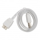 USB 3.0 Type-A Male to Micro-B Male Connection Flat Cable - White (60cm)