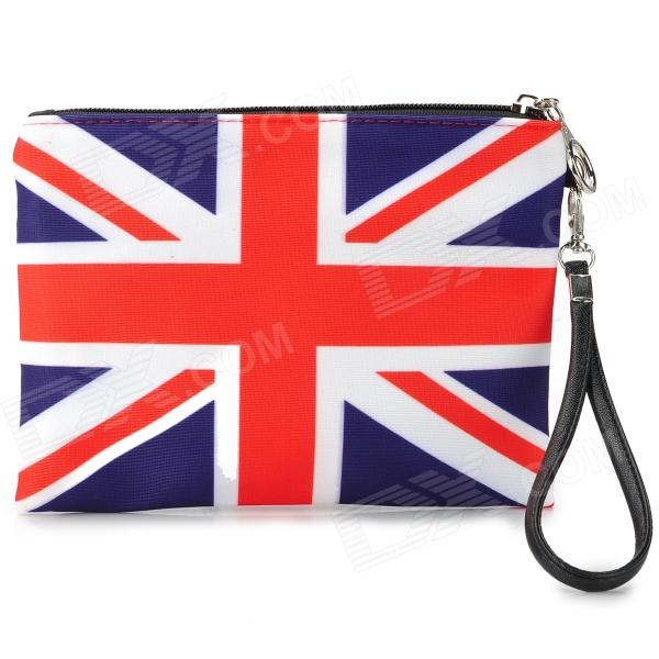 Fashion England Flag Pattern Hand Pouch Bag - Blue + Red + White