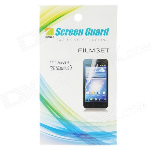 Protective PE Matte Screen Protector for LG E973 - Transparent