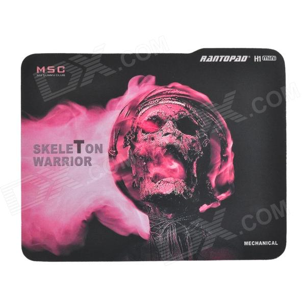 Rantopad H1 Skeleton Warrior Patroon Muis Gaming Pad - Zwart + Rood