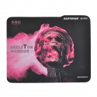 Rantopad H1 Skeleton Warrior Pattern Gaming Mouse Pad - Black + Red