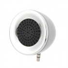 Cool Mini 3W Audio Music Speaker for Iphone / Ipad / Ipod - Silver (3.5MM Plug)