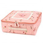 Folding 16-Case Non-woven Fabric Underwear Storage Box - Pink