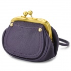 1205 Water Resistant PU Handheld Wallet Bag - Deep Purple
