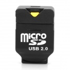 C268 Ultrakleiner USB 2.0 Micro SD / TF Card Reader - Schwarz
