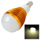 E14 5W 3500K 350lm 5-LED Warm White Light Bulb - Weiß + Golden (85 ~ 265V)