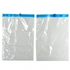 001 Thicken Rolling PA + PE Compression Vacuum Bags for Clothes - Translucent + Blue (2 PCS)